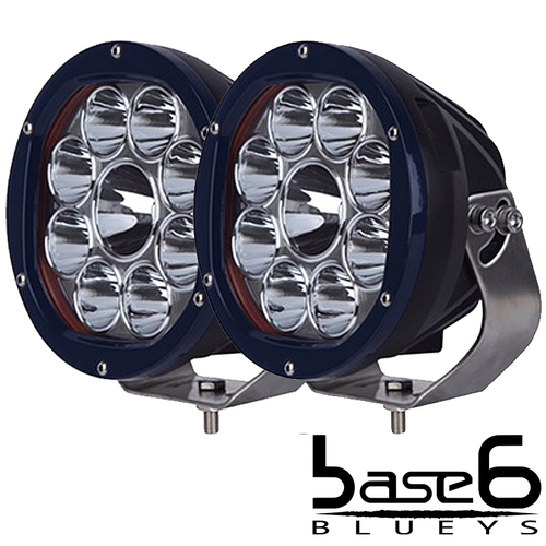 "BLUEYS 7"" Pair SERIES DRIVING LIGHTS with Combo Cover"