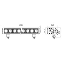 Marine LED Light Bar - Base6 Aggressor 10 LED / 10 Watt