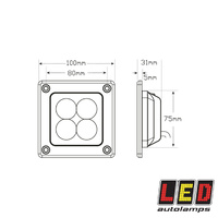 Recessed Mount Flood Lamp LED Autolamps 73120 Series