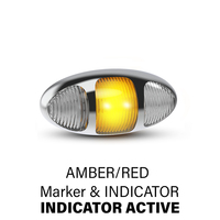 97 Series Amber/Red Marker (Chrome) with Indicator