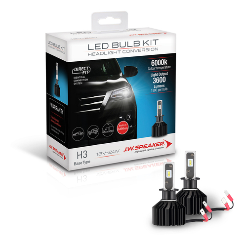 LED Bulb Kit - H3 Direct Fit LED Bulb Kit 12/24V 6000K Not ADR compliant
