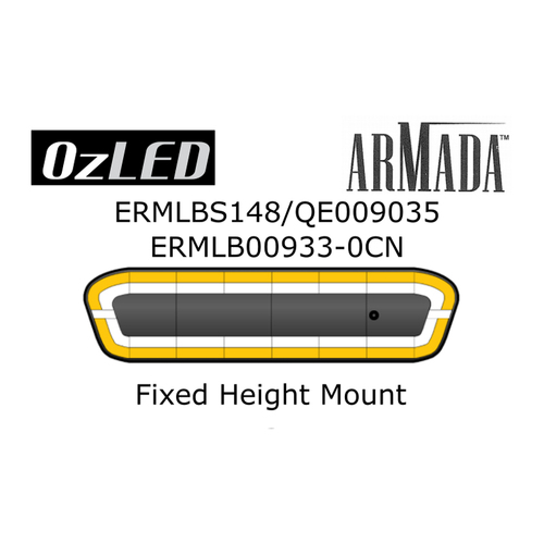 "ARMADA LIGHT BAR, 48"" AMBER / WHITE, BUILD # QE009035 C/W GUTTER MOUNT BRACKETS"