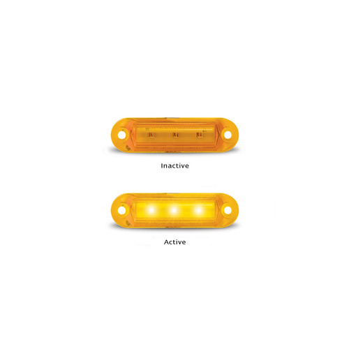 LED Autolamps Marker Light - Slimline 16 Series Amber