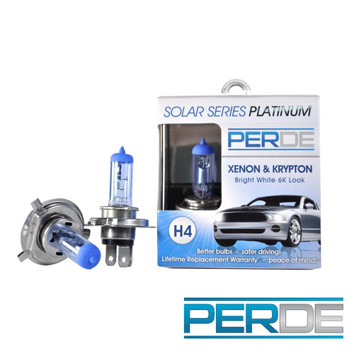 PERDE Xenon H4 Headlight Light Bulbs Diamond White 6000K
