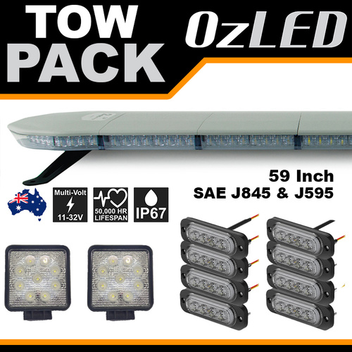 Amber Tow Truck LED Lights - Pack 1