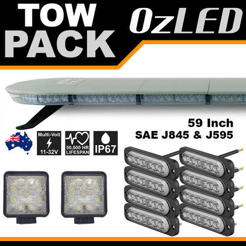 Tow Truck LED Warning Lights and Lightbar - Pack 2
