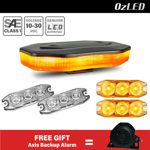 Amber Safety LED Lighting Package (TRADIE WORK SITE)